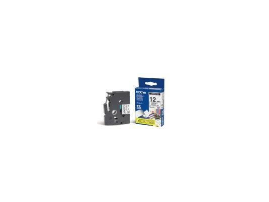 Лента ламинирования Brother TZ131 12мм для P-Touch черный на прозрачном brother tze325 black white лента для матричного принтера 9 мм