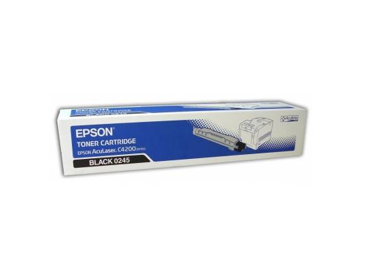 Тонер-Картридж Epson C13S050245 для AcuLaser C4200 черный 10000стр картридж c13s050244 epson для aculaser c4200 голубой c13s050244