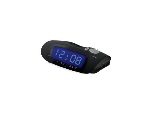 Часы с радиоприемником Supra SA-16FM черно-синий