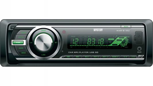 Автомагнитола Mystery MAR-818U USB MP3 SD MMC без CD-привода 1DIN 4x50Вт пульт ДУ черный