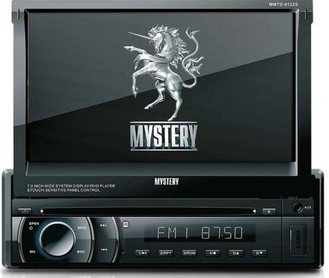 Автомагнитола Mystery MMTD-9122S USB CD MP3 DVD 1DIN 4x50Вт пульт ДУ черный