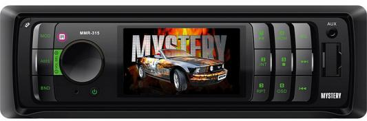 Автомагнитола Mystery MMR-315 USB MP3 SD MMC без CD-привода 1DIN 4x50Вт пульт ДУ черный