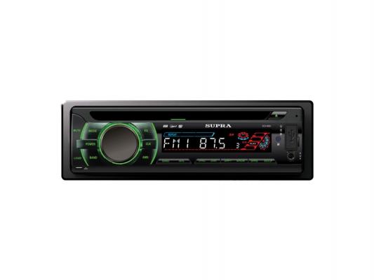 Автомагнитола Supra SCD-406U USB MP3 CD SD MMC 1DIN 4x50Вт черный