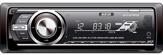 Автомагнитола Mystery MCD-697MPUC CD MP3 FM USB SD MMC 1DIN 4x50Вт черный