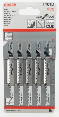 Лобзиковая пилка Bosch T101D HCS 5шт bosch t101d hcs 5шт