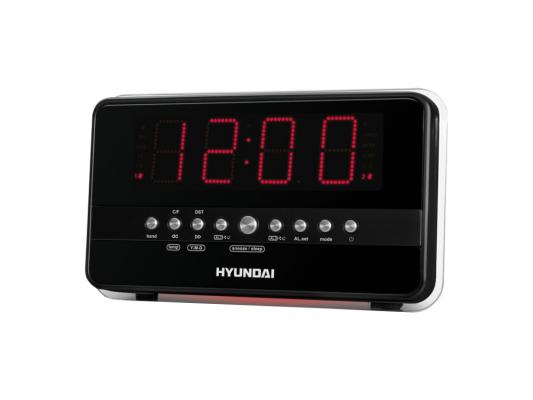Часы с радиоприемником Hyundai H-1549 серебристо-оранжевый