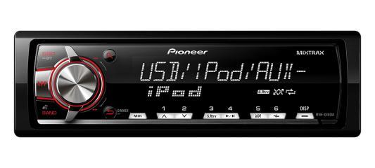 Автомагнитола Pioneer MVH-X460UI бездисковая USB MP3 FM RDS 1DIN 4x50Вт черный автомагнитола pioneer deh 4800fd usb mp3 cd fm rds 1din 4x100вт пульт ду черный