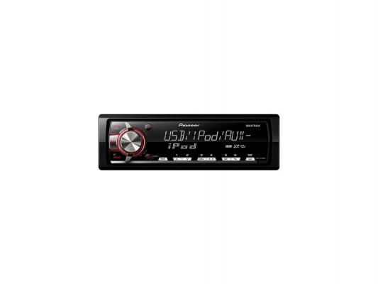 Автомагнитола Pioneer MVH-X460UI бездисковая USB MP3 FM RDS 1DIN 4x50Вт черный