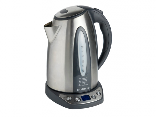 Чайник Polaris PWK 1783CAD 2200 Вт 1.7 л металл серебристый чайник polaris pwk 1754 clwr 2200 вт 1 7 л пластик белый синий