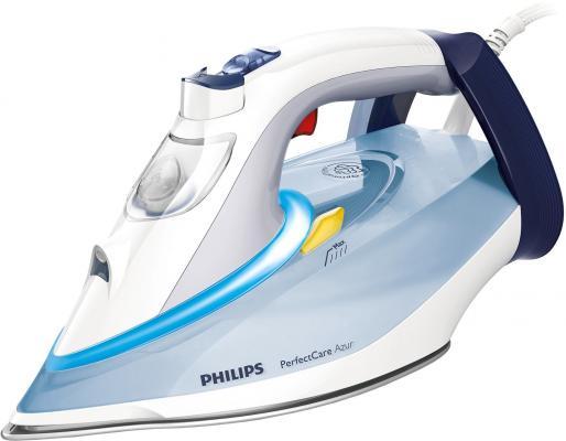 Утюг Philips GC4910/10 2400Вт сине-белый утюг philips gc4519 30 2400вт фиолетовый белый