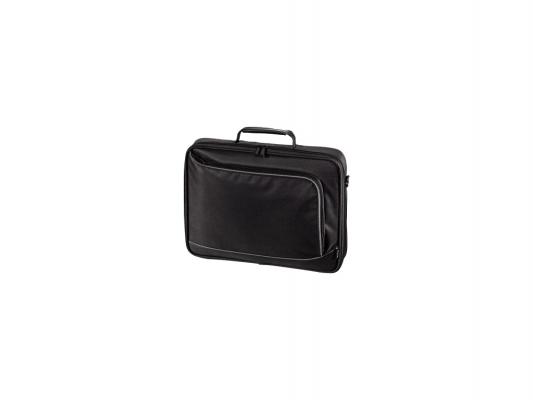 """Сумка для ноутбука 17.3"""" Hama Sportsline Bordeaux черно-серый полиэстер 101094"""