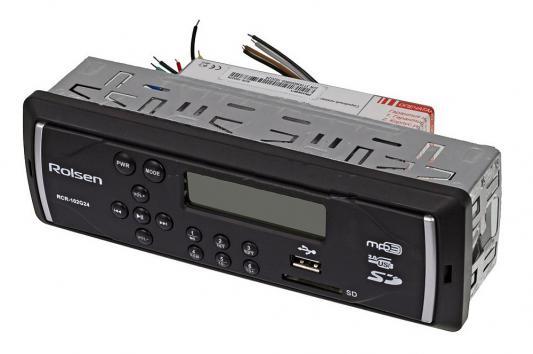 Автомагнитола Rolsen RCR-102G24 USB MP3 FM SD MMC 1DIN 4x45Вт черный