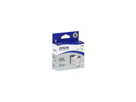 Картридж Epson T580700 для Stylus Pro 3800 серый 320стр картридж epson t009402 для epson st photo 900 1270 1290 color 2 pack