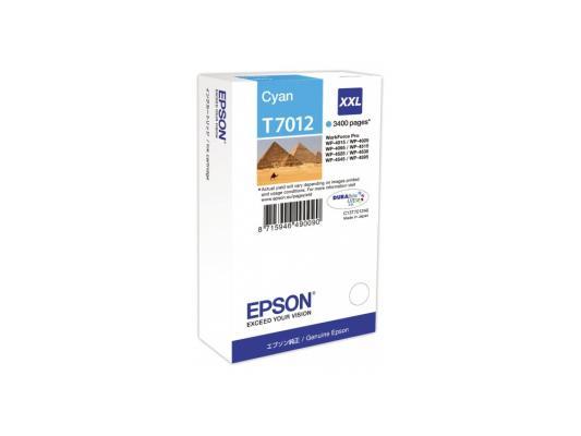 Картридж Epson С13Т701240XXL для WP 4000/4500 Series голубой 3400стр картридж epson c13t70244010xl для epson wp 4000 4500 series желтый 2000стр