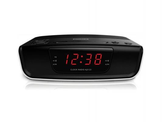 Радиобудильник Philips AJ3123/12 чёрный белый радиобудильник rolsen rfm 200