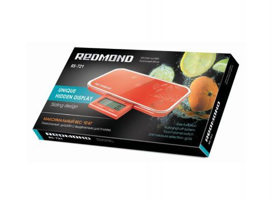 Весы кухонные Redmond RS-721 красный redmond rs 721 black