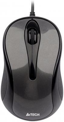 лучшая цена Мышь проводная A4TECH N-360-1 V-Track Padless серый чёрный USB