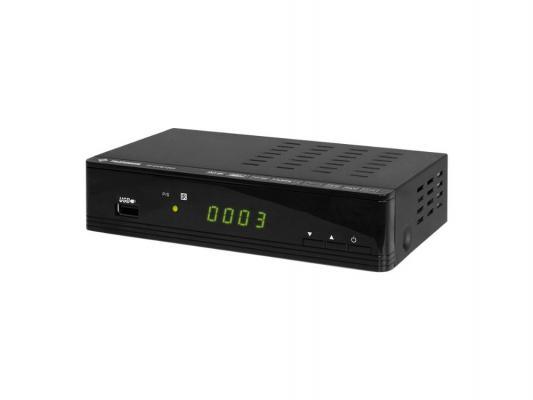 Тюнер цифровой DVB-T2 Telefunken TF-DVBT202 HDMI USB черный
