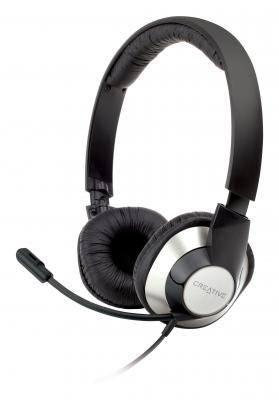 Гарнитура Creative HS-720 серебристо-черный 51EF0410AA002 гарнитура creative hs 720 серебристо черный 51ef0410aa002