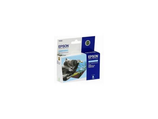 Картридж Epson C13T05954010 для Stylus Photo R2400 светло-голубой 440стр 10 pcs uv ink damper for epson r1800 r1900 r2400 r1100 1390 1400 1410 1430 dx4 filter black