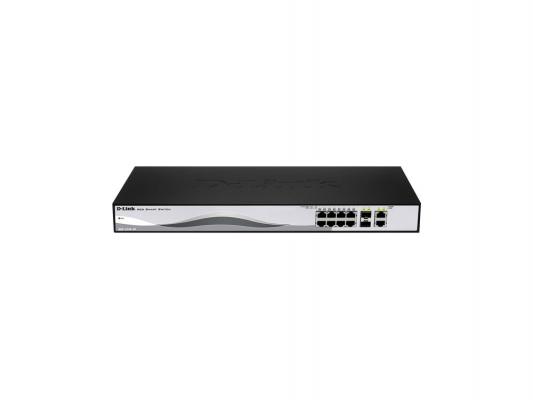 Коммутатор D-LINK DES-1210-10/ME/B1A управляемый 8 портов 10/100Mbps 2x combo GbLAN/SFP коммутатор d link des 1210 26 me b1a управляемый 24 порта 10 100mbps 2xfsp
