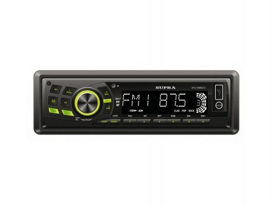 Автомагнитола Supra SFD-1008DCU USB MP3 FM RDS SD MMC 1DIN 4x70Вт черный