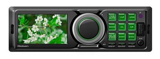 Автомагнитола Rolsen RCR-300G бездисковая USB MP3 FM SD MMC 1DIN 4x60Вт черный