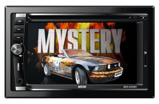 "Автомагнитола Mystery MDD-6250BS 6.2"" 800х480 USB MP3 CD DVD FM SD MMC 2DIN 4x50Вт пульт ДУ черный"