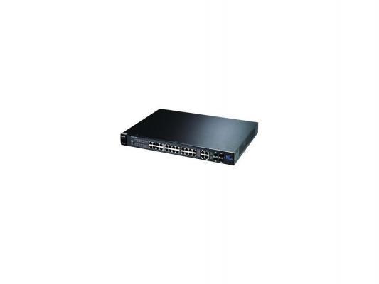 Коммутатор ZyXEL GS2200-24P 24-портовый управляемый PoE-коммутатор Gigabit Ethernet с 4 SFP-слотами совмещенными с разъемами RJ-45