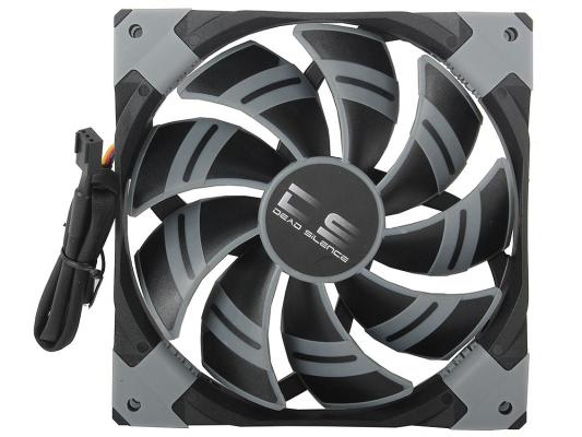 Вентилятор Aerocool DS 14см Black (без подсветки), 3+4 pin, 64.8 CFM, 1000 RPM, 14.2 dBA при 12V и 39.8 CFM, 700 RPM, 10.8 dBA при 7V