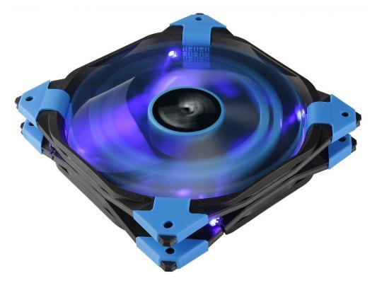 Вентилятор Aerocool DS 14см Blue (синяя подсветка), 3+4 pin, 64.8 CFM, 1000 RPM, 14.2 dBA при 12V и 39.8 CFM, 700 RPM, 10.8 dBA при 7V