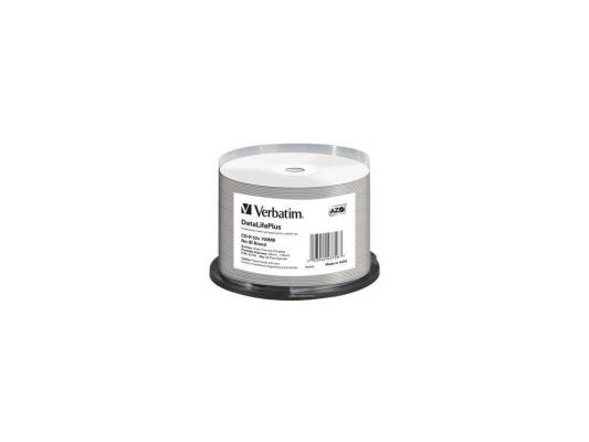 Диски CD-R Verbatim 700Mb 52x DL + White Wide Thermal Printable 50шт 43756 диски cd r 700mb 52x jewel 10шт printable verbatim 43325 4