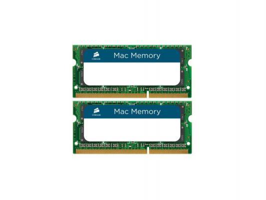 Оперативная память для ноутбука 16Gb (2x8Gb) PC3-10600 1333MHz DDR3 SO-DIMM CL9 Corsair CMSA16GX3M2A1333C9 dimm 4gb ddr3 pc10660 1333mhz corsair cmv4gx3m1a1333c9