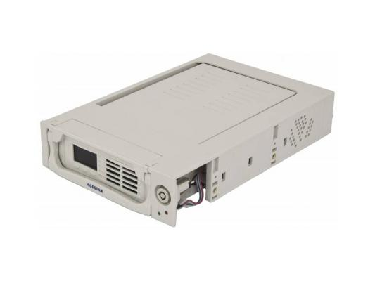 "Салазки для жесткого диска (mobile rack) для HDD 3.5"" AGESTAR SRTP-K-2F 2fan бежевый"