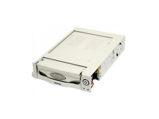 Салазки для жесткого диска (mobile rack) для HDD 3.5 AGESTAR MR3-SATA (K)-F бежевый SR3P-K-1F mobile rack салазки для hdd agestar mr3 sata sw 1f черный