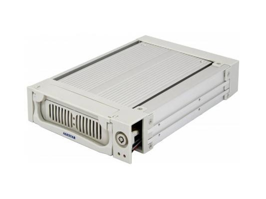 "Салазки для жесткого диска (mobile rack) для HDD 3.5"" AGESTAR SR1A-K-1F 1fan серебристый"