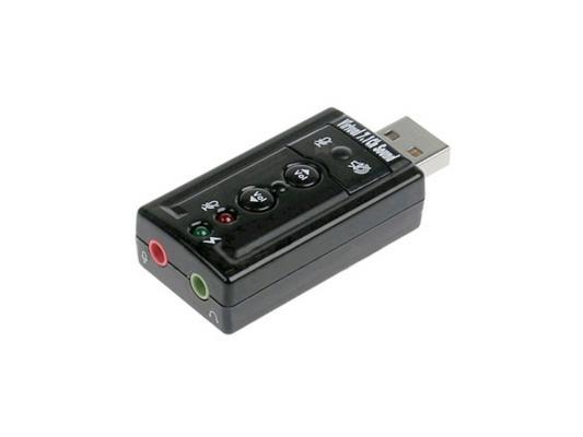 Звуковая карта USB C-media CM108 TRUA71 2.0 channel Asia 8C Blister звуковая карта usb trua3d c media cm108 2 0 ret