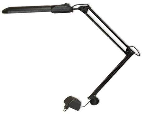 Настольная лампа Трансвит Дельта1 черный G23 11 Вт струбцина