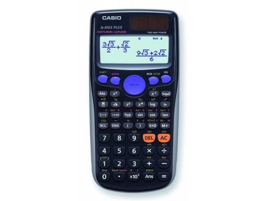Калькулятор Casio FX-85ESPLUS двойное питание 12 разряда научный 252 функций черный калькулятор casio fx 82sxplus питание от батареи 12 разряда научный 177 функций синий