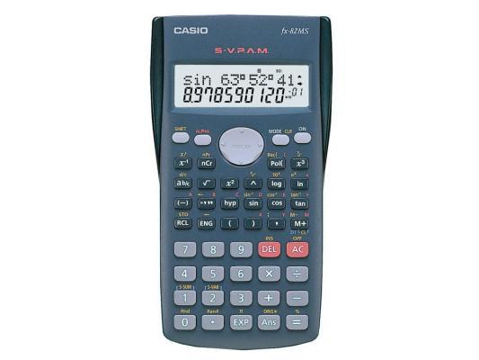 Калькулятор Casio FX-82MS питание от батареи 12 разряда научный 240 функций серый калькулятор casio fx 570esplus матричный 2 строчный