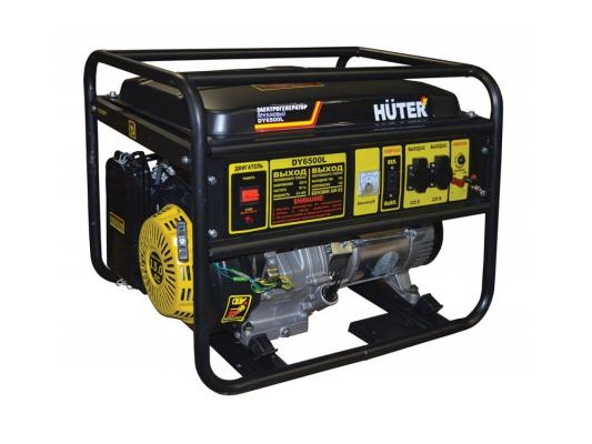 Генератор Huter DY6500L электростартер 5000Вт генератор huter dy6500lx электростартер 5000вт