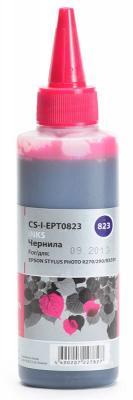 Чернила Cactus CS-I-EPT0823 для Epson Stylus Photo R270/290/RX590 100мл пурпурный чернила inksystem для фотопечати на epson stylus c64 фоточернила