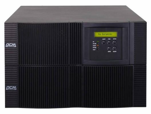 ИБП Powercom VRT-6000 5400W черный минитракторы в москве кубота 6000
