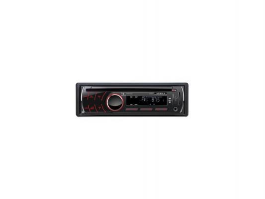 Автомагнитола Supra SCD-402U USB MP3 CD FM SD MMC 1DIN 4x50Вт черный