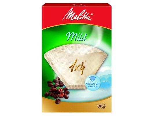 Фильтры бумажные Melitta Courmet Mild белый 1х4/80шт(208845)