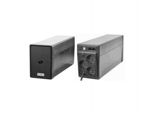 ИБП Powercom PTM-550AP Phantom Black 550VA/330W USB,AVR (2+1 EURO)