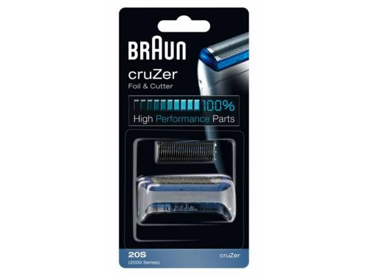 Сетка Braun 20S CruZer для бритвы Braun 2000 серии серый сетка для бритвы braun 20s