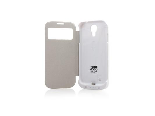 Чехол с аккумулятором Gmini mPower Case MPCS45F White для Galaxy S4 4500mAh Flip cover protective pu leather flip open case w stand for asus z5 white