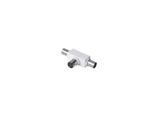 Антенный разветвитель HAMA H-43158 (КРАБ) коаксиальный антенный штекер (f) -2x (m)