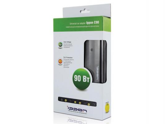 Автомобильный блок питания для ноутбука Ippon C90 90Вт 8 переходников